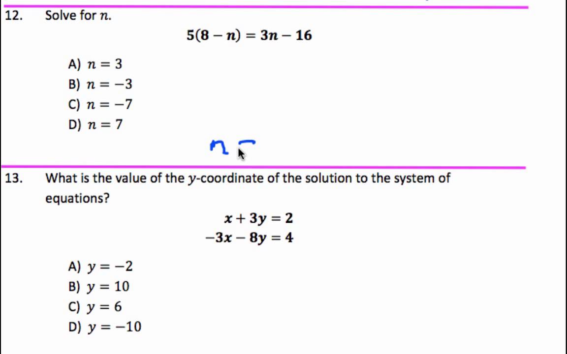 Math 101 College Algebra Practice Test Questions 6730379 ...