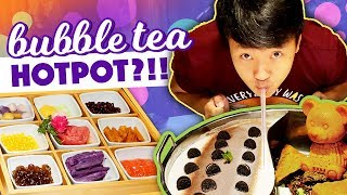 CRAZY Food?! BUBBLE TEA / MILK TEA HOTPOT in New York Review!
