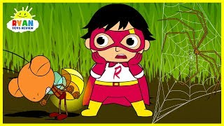 Ryan Shrinks in Bugs World| Cartoon Animation for Children!