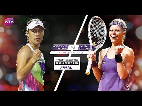 2016 Porsche Tennis Garnd Prix Final Preview | Angelique Kerber vs Laura Siegemund
