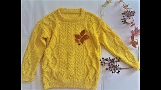 Jumper for 5 years, height 110cm. Knitting