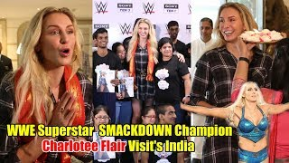 WWE Smackdown Champion Charlotte Flair Visit INDIA And Celebrates Children's Day