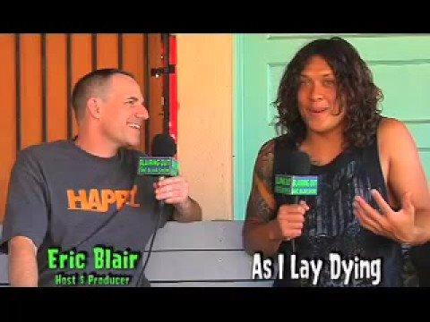 AS I LAY DYING- NICK HIPA talks to ERIC BLAIR.Warped Tour 08