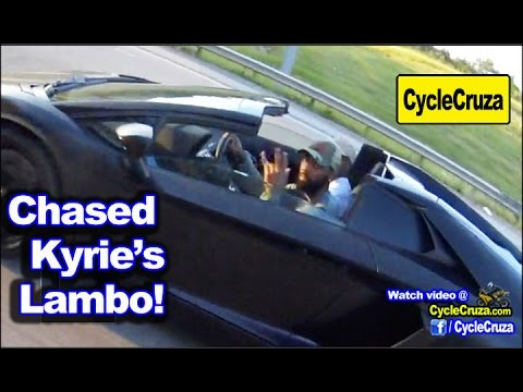 Kyrie Irving's Lamborghini Aventador Chased Down by My CBR1000rr
