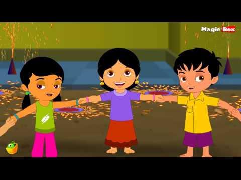 Deepavali - Telugu Nursery Rhymes - Cartoon And Animated Rhymes For Kids video
