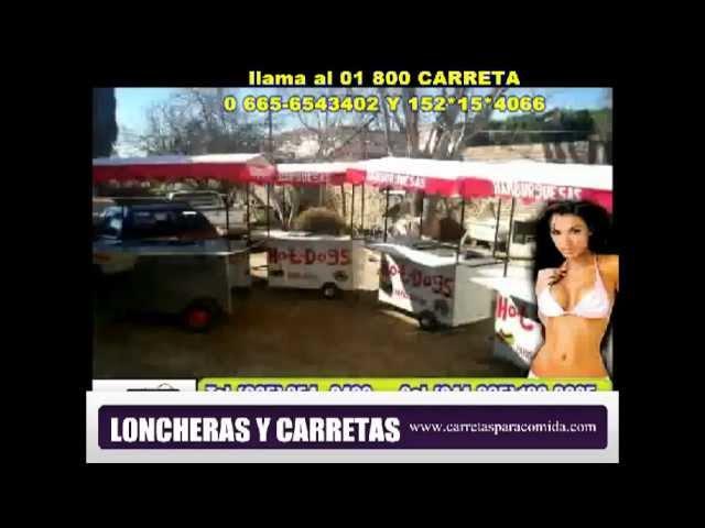 Loncheras y Carretas Para Comida 01 800  CARRETA www carretasparacomida com