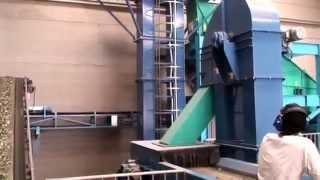 Planta de reciclaje de vidrio, empleando tecnología Mogensen: Cribas y MSort AX.