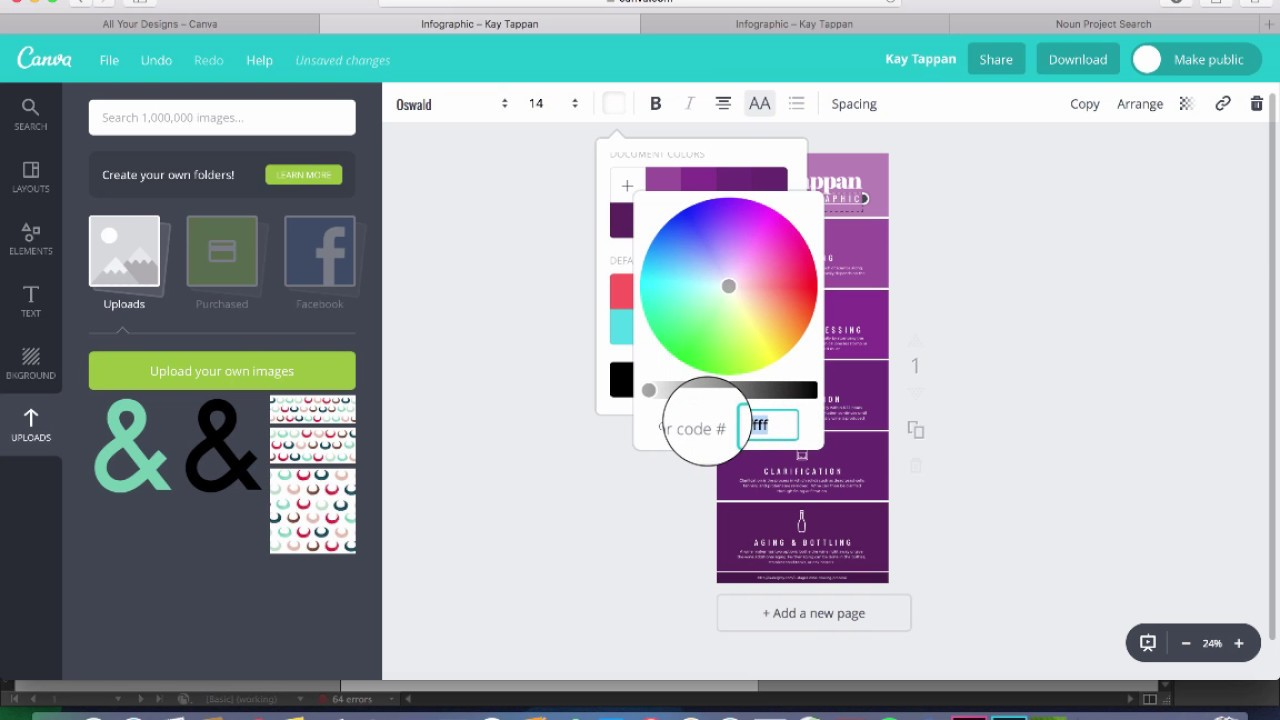 How to make an infographic on canva