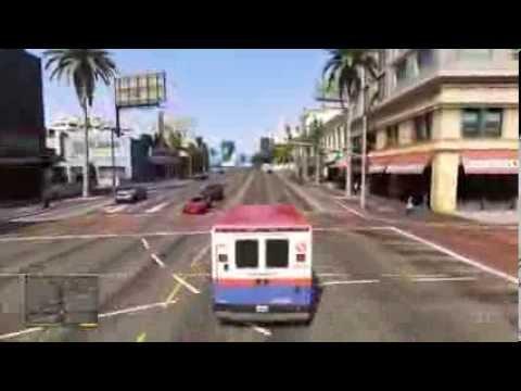 Grand Theft Auto 5 Ambulance Driving Gameplay HD