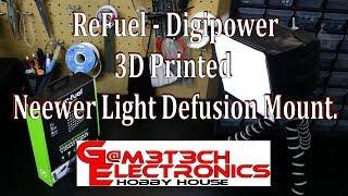 Refuel - Digitpower 3D Printed Neweer Light Defusion Mount