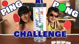 PING PONG CHALLENGE con CRYSTAL BALL!!