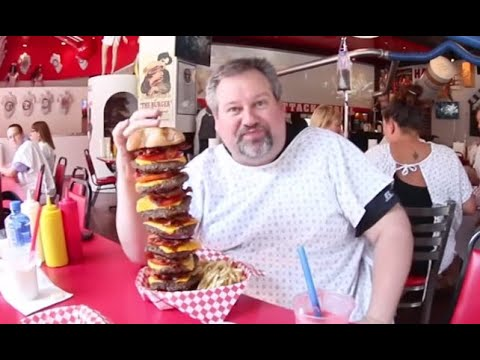 THE HEART ATTACK GRILL Las Vegas! Giant Burgers & Spankings Review