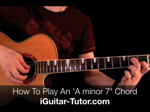 Free Guitar Lesson A minor7 Chord Am7..