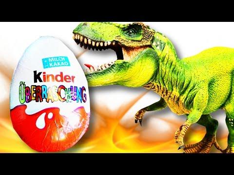 DINOSAUR Kinder Surprise Eggs  Unboxing   SweetsAndCandy