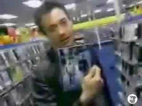 Robert Downey Jr goes to Blockbuster Video