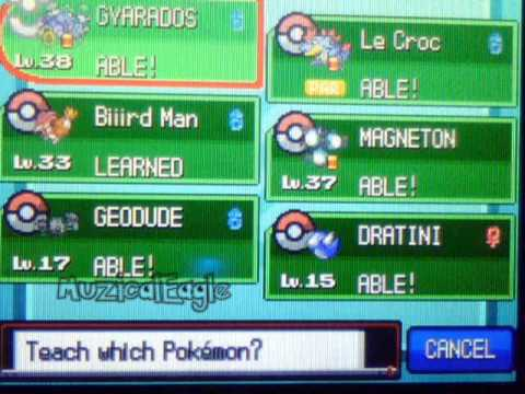 Pokemon SoulSilver Cheat 4: Any TM & HM on Any Pokemon