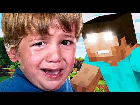 SCARED LITTLE SQUEAKER SCREAMS AT HEROBRINE Minecraft Trolling