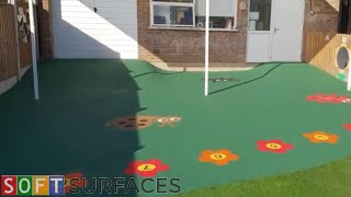 wetpour Surfacing With Graphics Installation In Cheltenham, Gloucestershire  Wet Pour Play Area