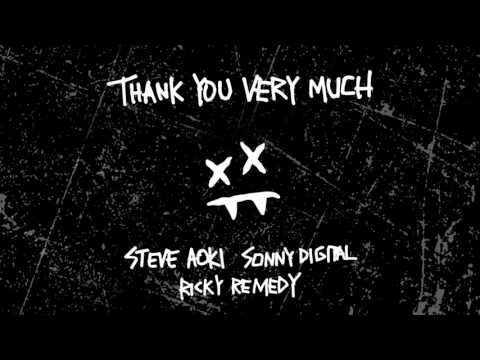 Steve Aoki & Ricky Remedy - Thank You Very Much feat. Sonny Digital (Cover Art) [Ultra Music]