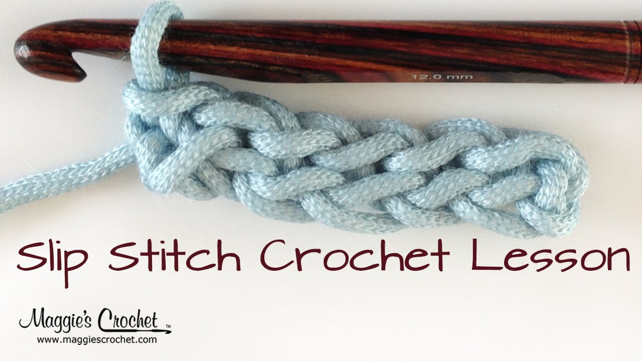 Crochet Stitches V-St : Crochet Basics: How to Slip Stitch Lesson - Right Handed - YouTube