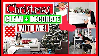 ALL DAY Christmas Decorate and Clean with Me! 🎄