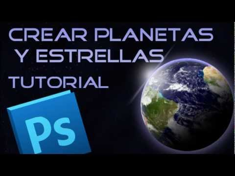 Curso Diseño Grafico: Crear Planetas y Estrellas en Photoshop - Tutorial Photoshop CS6