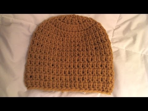 How to crochet basic Beanie Tutorial/ all sizes, baby to adult