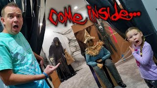 Haunted House Tour! We Turned Our House Into a Spook Alley for Halloween Party!
