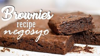 BROWNIES - Recipe Negosyo | It