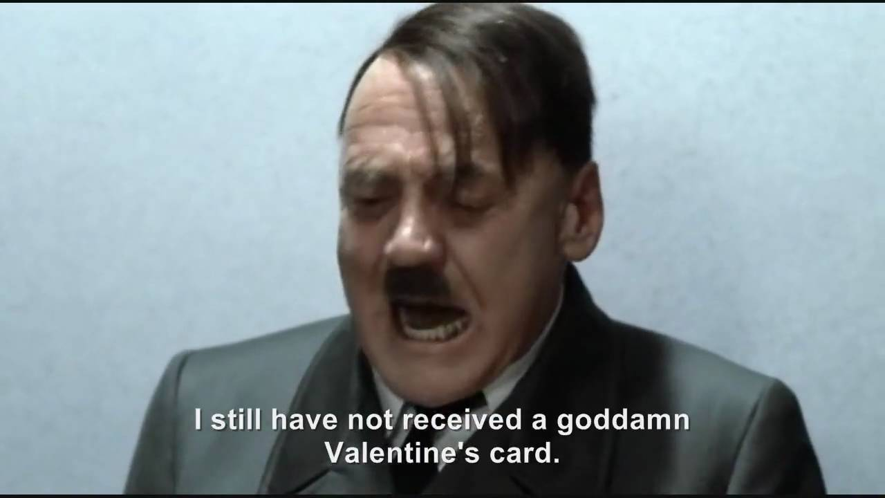 Hitler has not received a Valentine's card