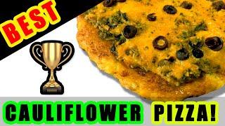 BEST Cauliflower Pizza Crust Recipe (KETO, No Gluten and NO Lectins*)