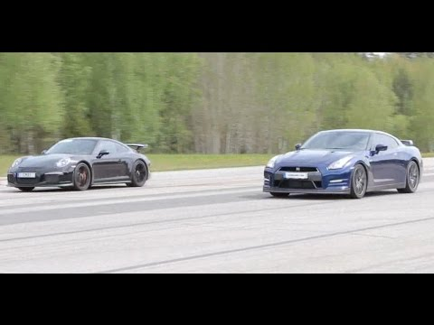 Nissan GTR 550 HP vs Porsche 991 GT3 PDK (both stock)