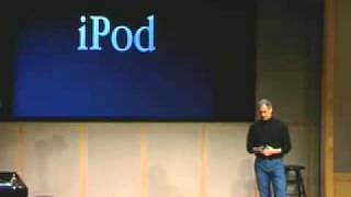 Steve Jobs announcing the first iPod in 2001
