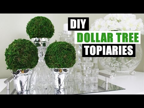DIY DOLLAR TREE TOPIARIES | Dollar Store DIY Round Topiary | DIY Dollar Tree Topiary Home Decor