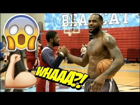 Lebron James VS Kyrie Irving 3 point Contest During Practice