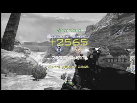 "MW2 amazing throwing knife game winning kill ""NEW"""