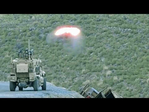 TOW MISSILE DESTROYS A TALIBAN HILLSIDE CAMP -  NO SLACK