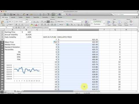 How to Simulate Stock Price Changes with Excel