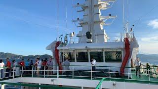 Tàu rời cảng Cam Ranh