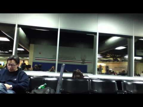 Raw footage , St Louis airport tornado hitting concourse C-10