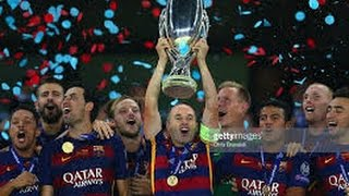 Extended Highlights Barcelona vs Sevilla 3-0 Super Cup 2nd Leg 2015/2016 [ English Commentary ] HD