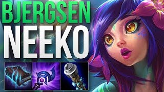 WHEN ONE OF THE BEST MID LANERS TRIES NEEKO.. (Bjergsen) | NEEKO MID GAMEPLAY | Patch 8.24 S8