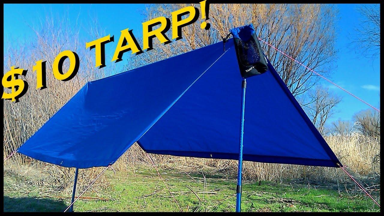 Cheap Ultralight Backpacking Tarp Youtube
