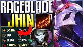 3,000+ AD NEW RAGEBLADE JHIN! HIGHEST AD EVER? Guinsoo's Rageblade Jhin - League of Legends