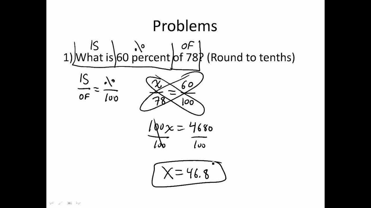 percent math problems