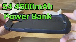 Galaxy S4 Power Bank CHEAP!! 9500 and 9505!! 4500 mAh! Unboxing Power Bank Case Review
