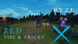 ZED TIPS & TRICKS | ZED VS. RYZE