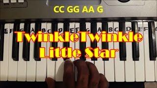 Easy Twinkle Twinkle Little Star Piano Keyboard Tutorial