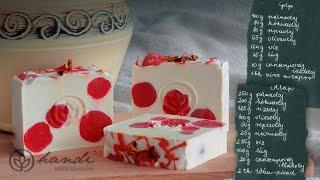 Pöttyös szappan készítése - soap making & recipe