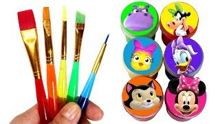 Learn Colors with Minnie Mouse Helpers Drawing & Painting and Surprise Toys